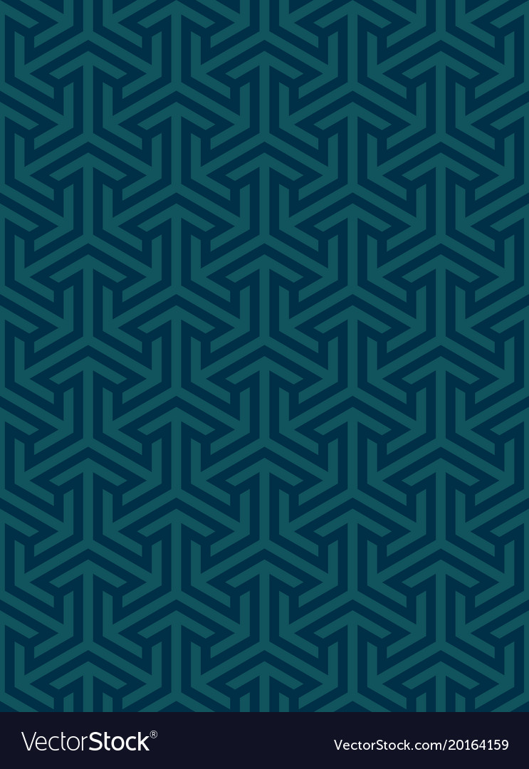 Geometric ornament based on a hexagonal grid