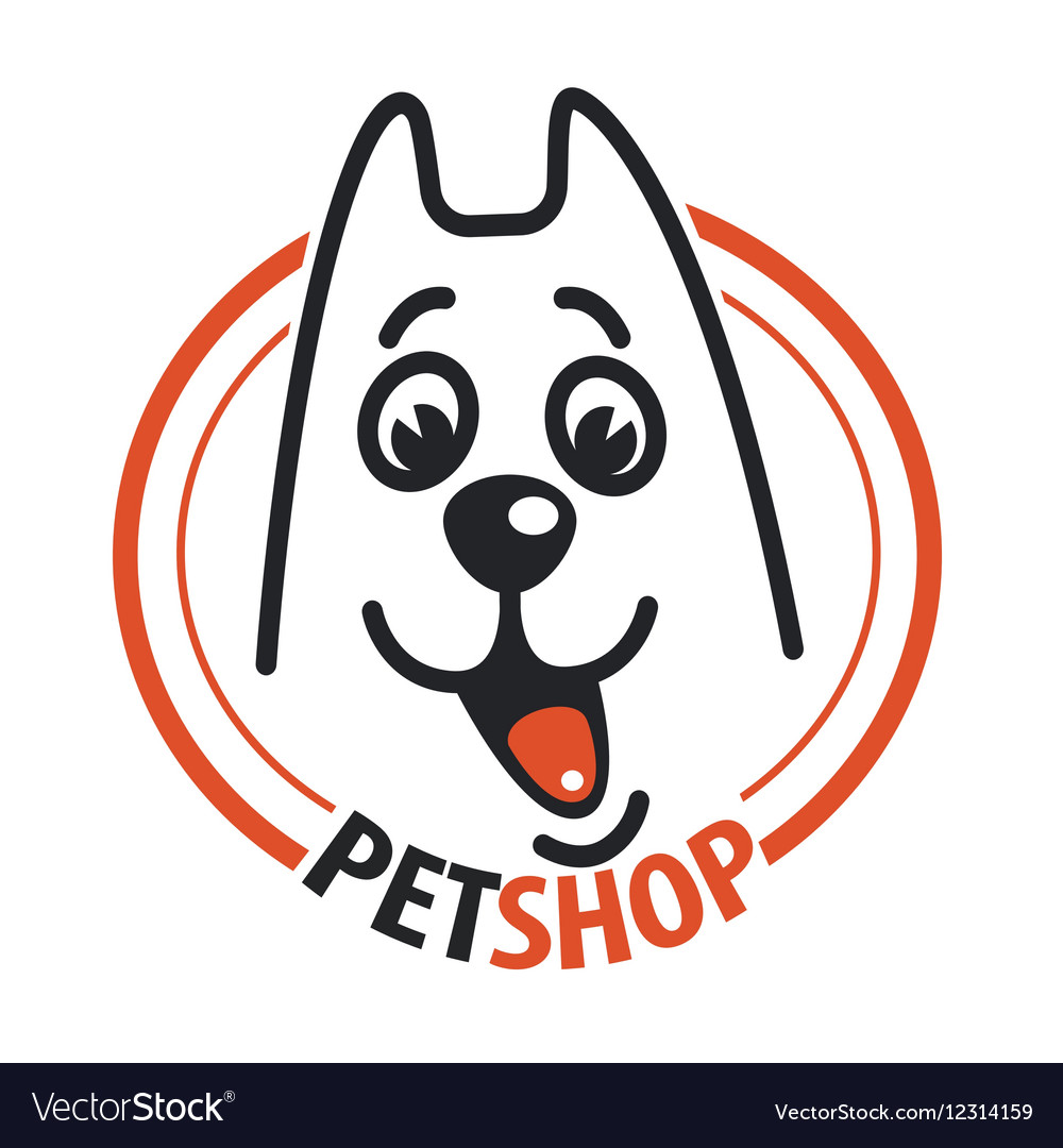 Pet shop with a dog head