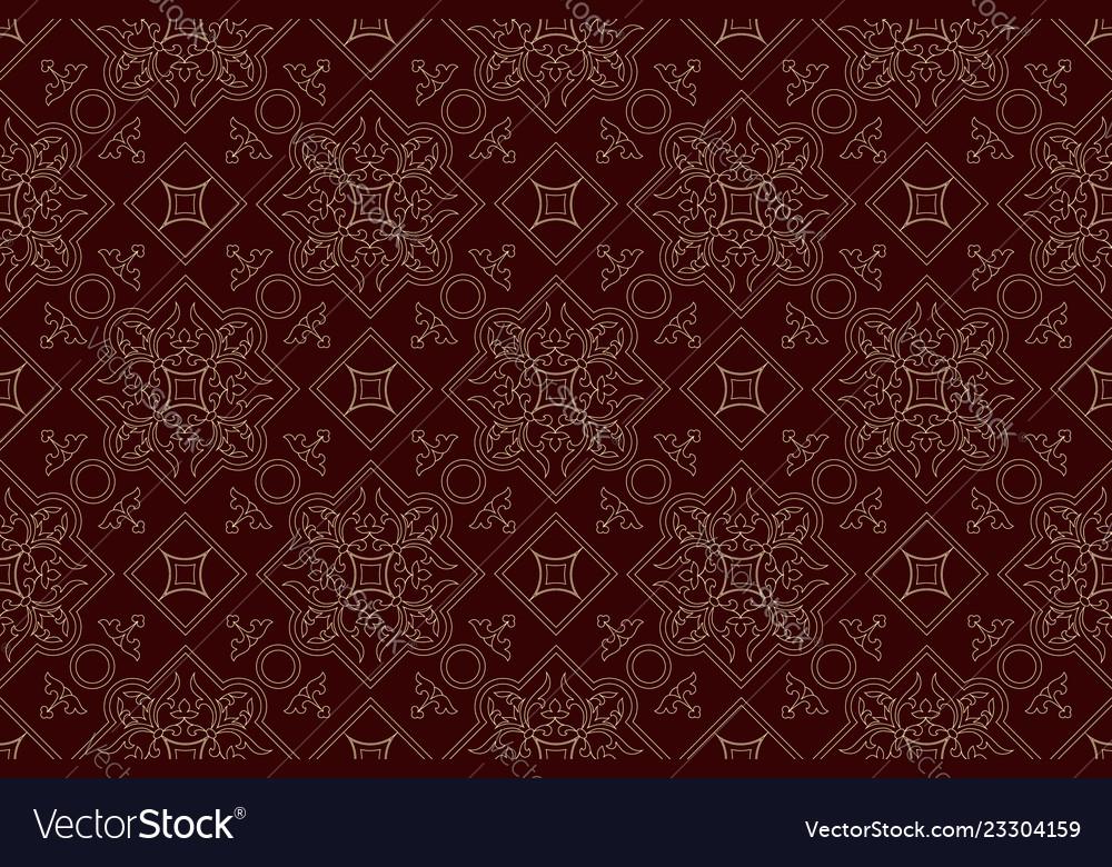 Vintage endless pattern burgundy background