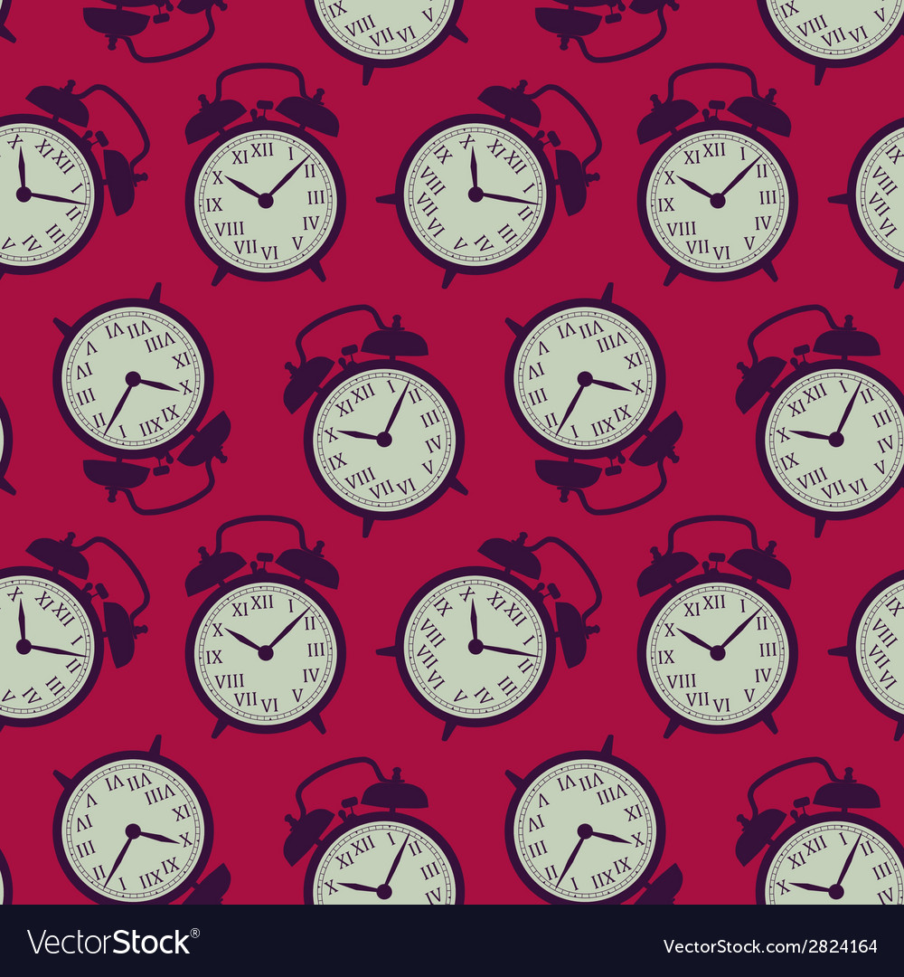 Clock seamless background vector image