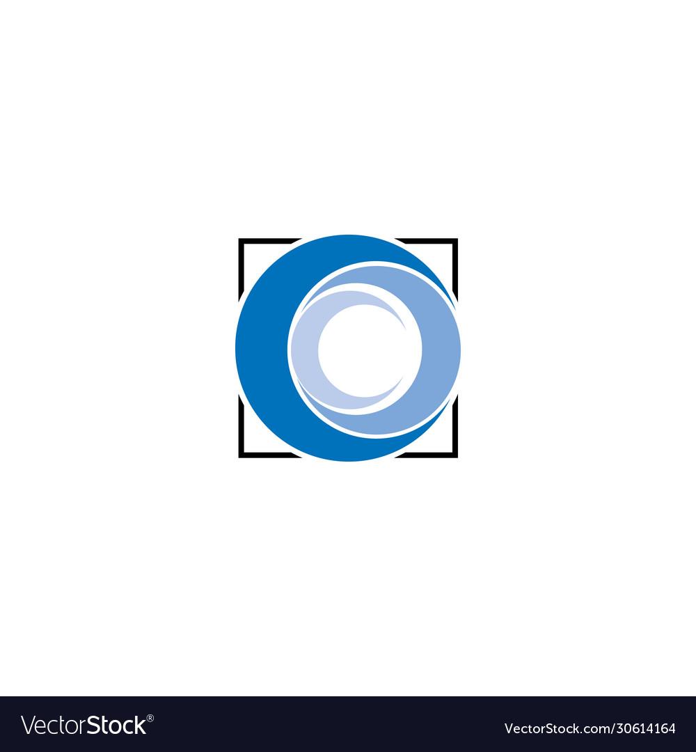 Creative abstract letter cc logo design