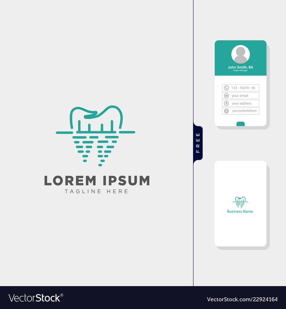 Dental logo template get free business card