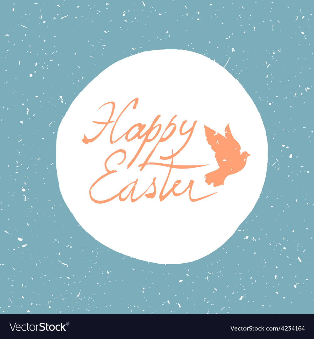 Easter card with dove