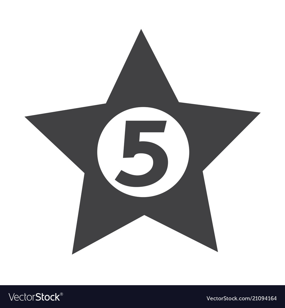Five Star Hotel Icon Design Vector Image