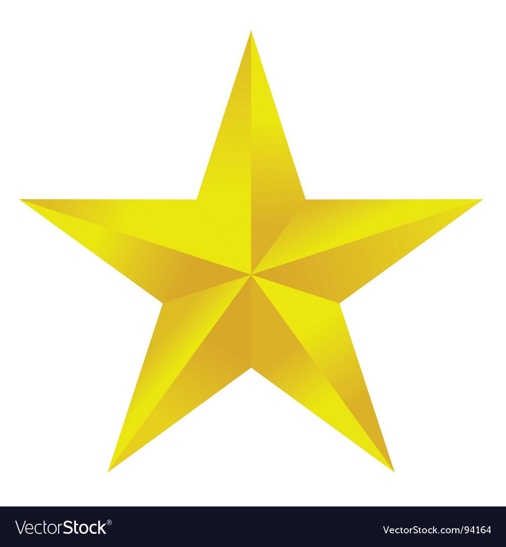 free star vector  Golden star Royalty Free Vector Image - VectorStock