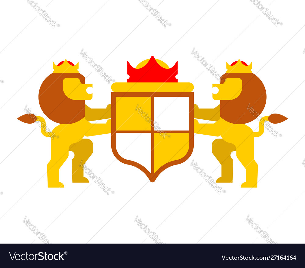 Lion And Shield Heraldic Symbol Leo Sign Animal