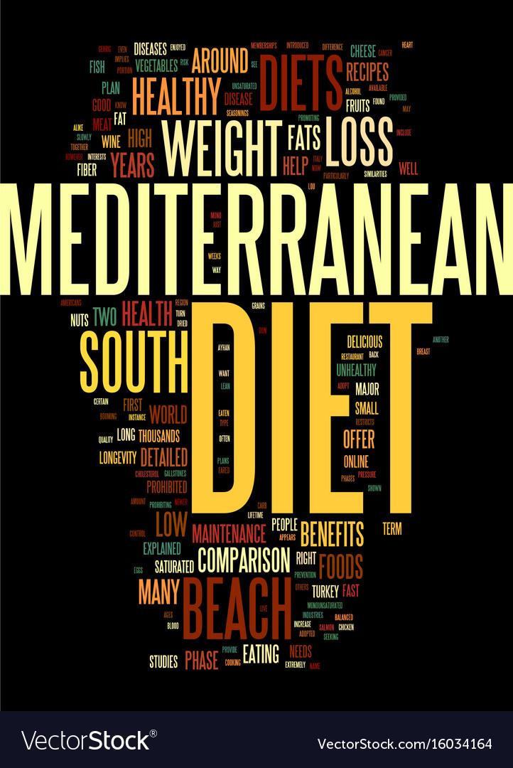 Mediterranean diet and the south beach diet a
