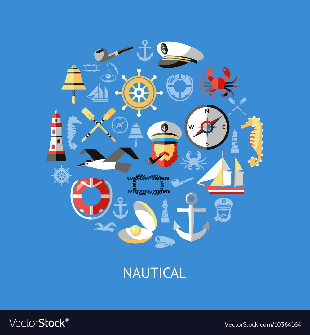 Nautical Round Composition