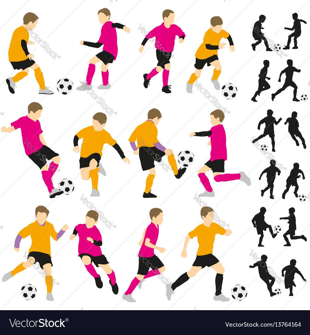 Soccer football children boys playing