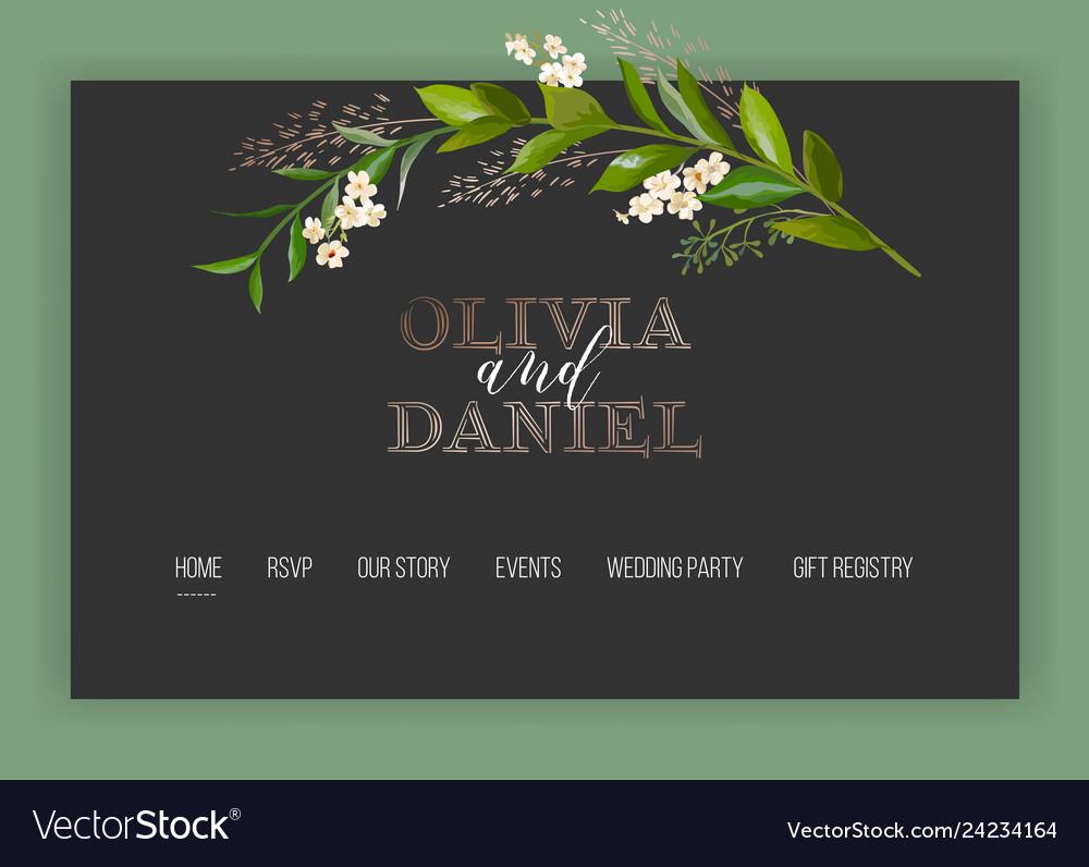 Wedding salon internet shop floral landing page