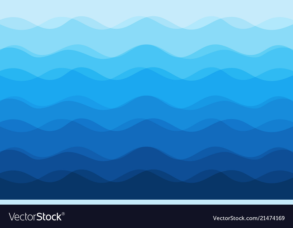 Abstract blue waves background for design