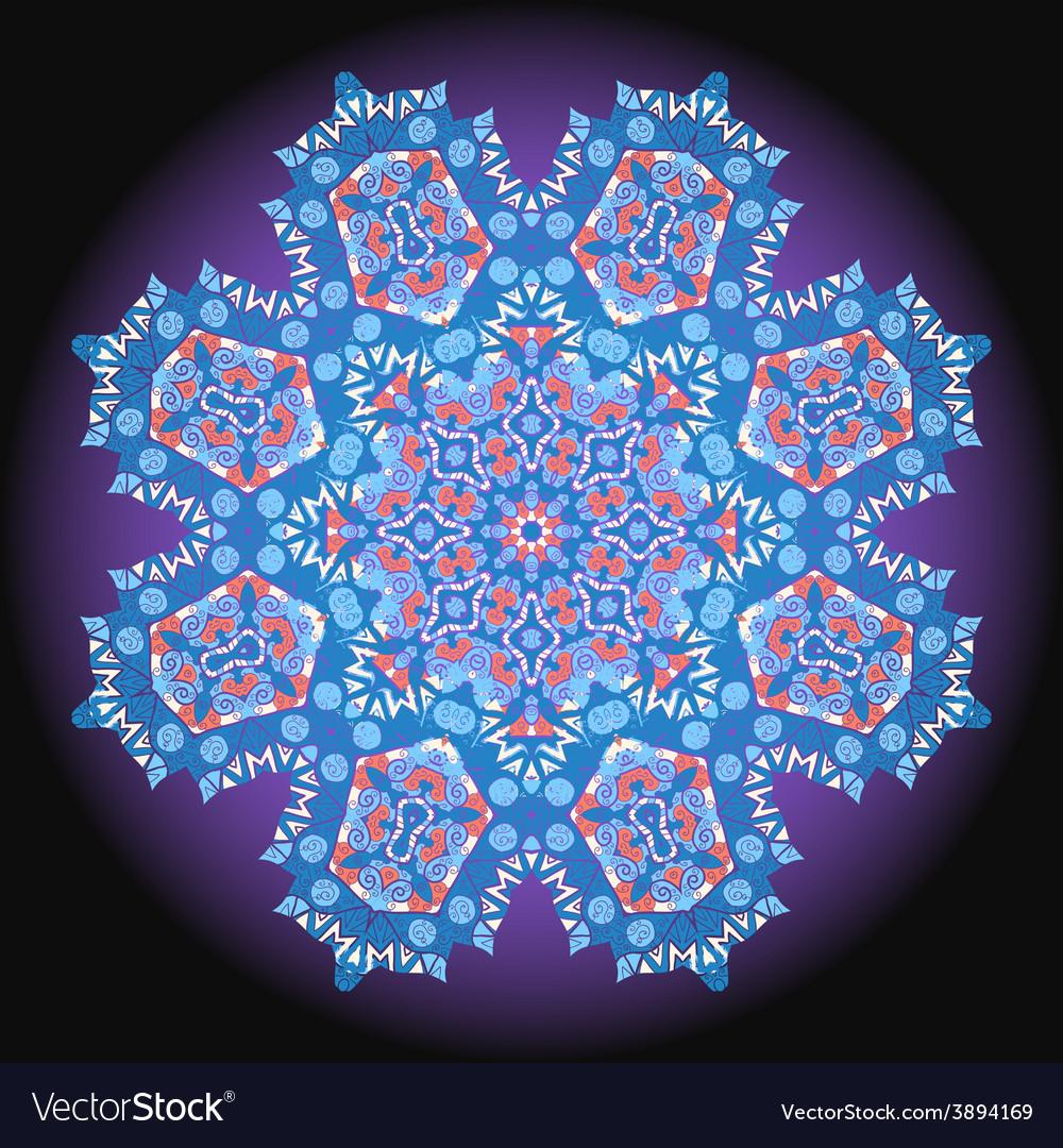Abstract circular floral pattern ornamental