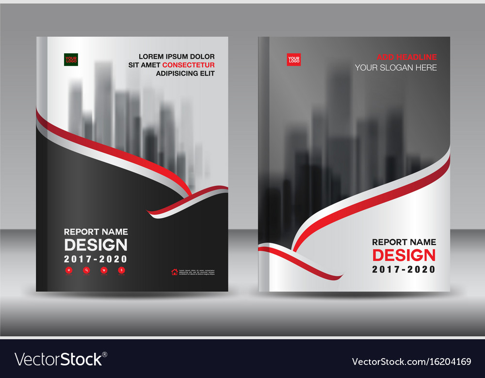 Brochure template layout black cover design