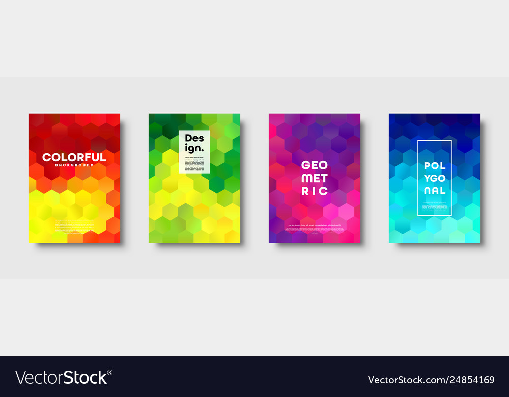 Hexagonal polygonal abstract background colorful