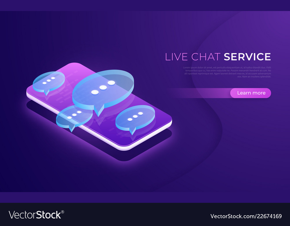 Live chat service social media communication