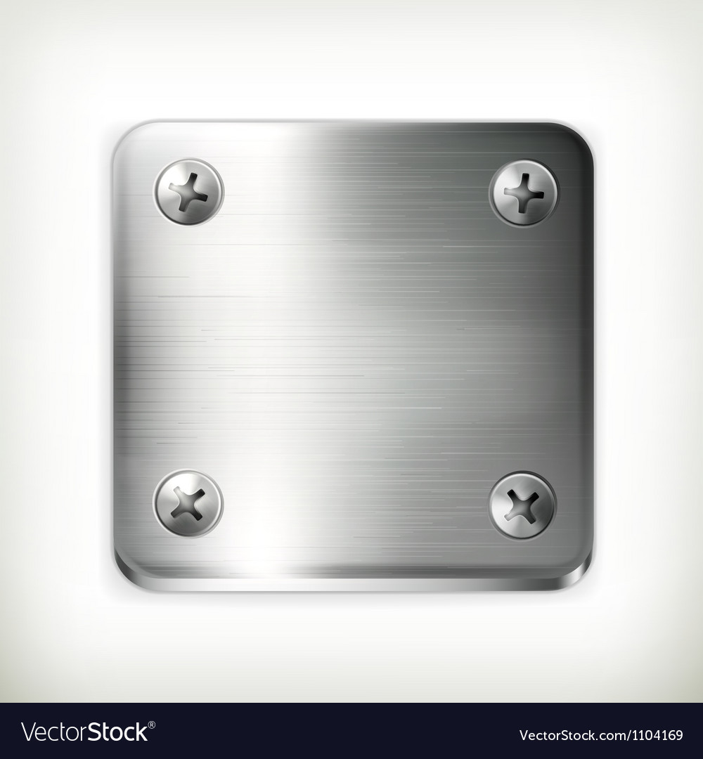 Metal plate with screws