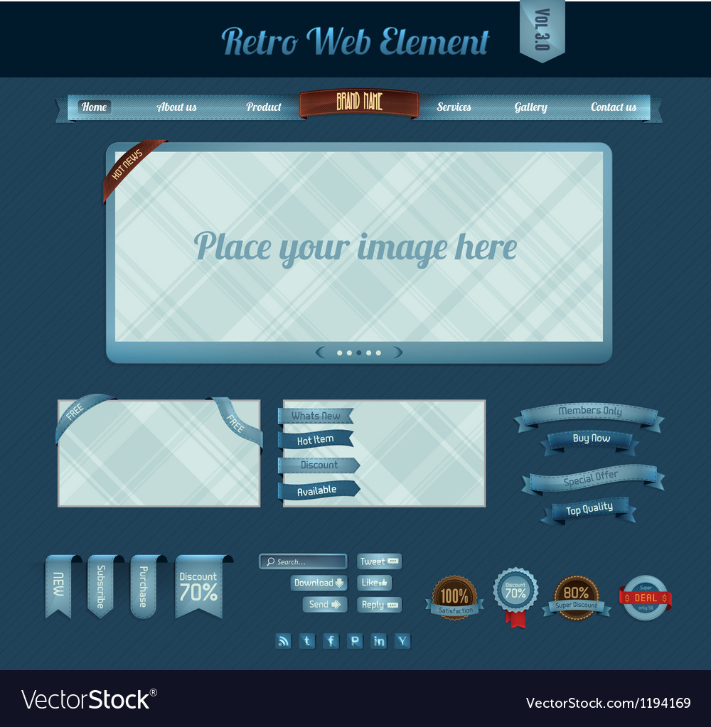 Retro web element 3
