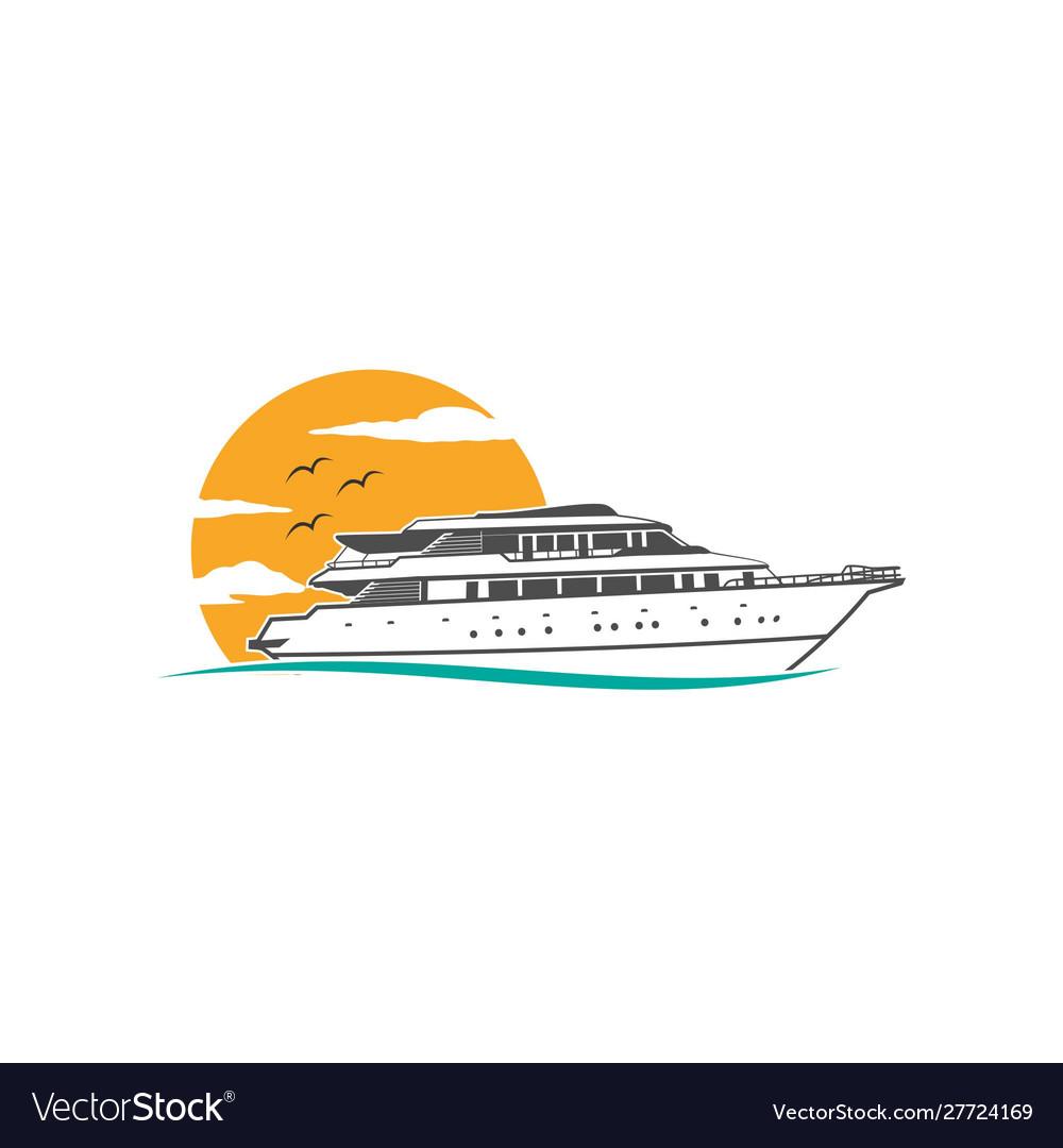 Ship sea cruise logo ocean icon nautical marine