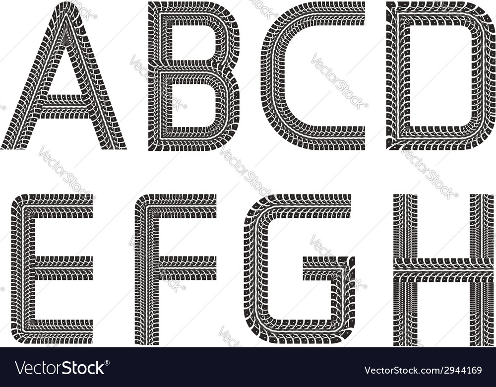 Tire tracks font