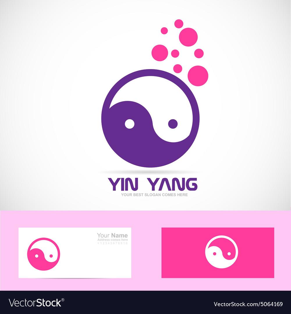 Yin yang meditation logo