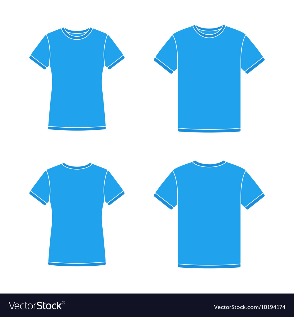 Blue Short Sleeve T Shirts Templates Royalty Free Vector