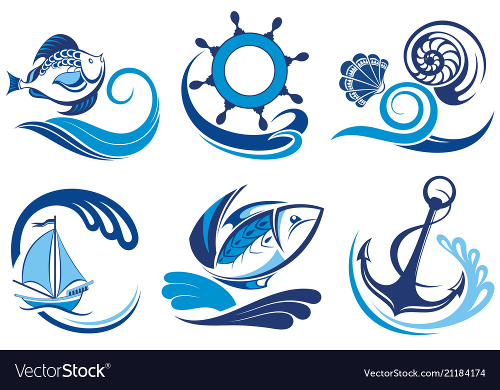Cute set of summer symbols