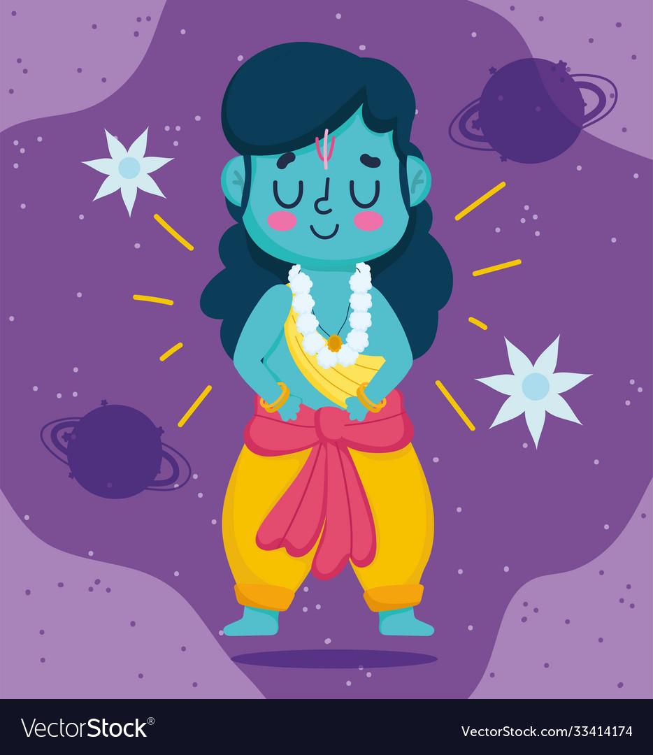Happy dussehra festival india lord rama