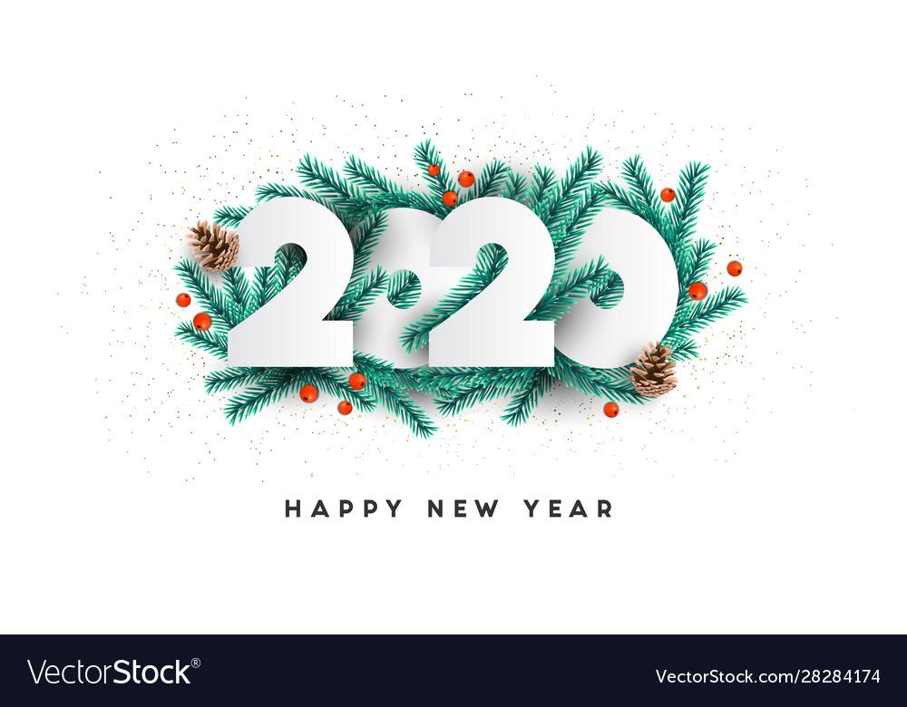 Modern greeting happy new year 2020