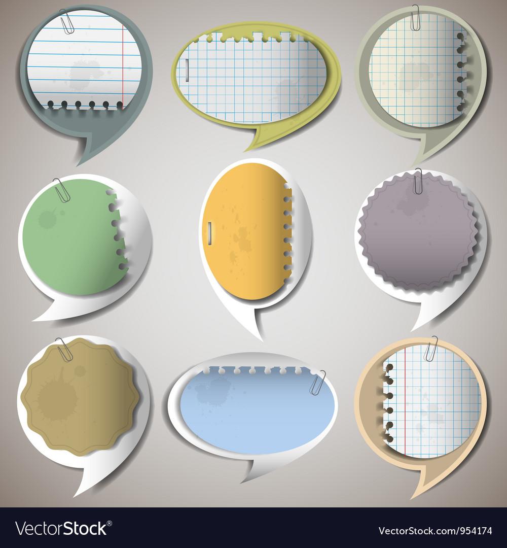 Paper speech bubbles 2