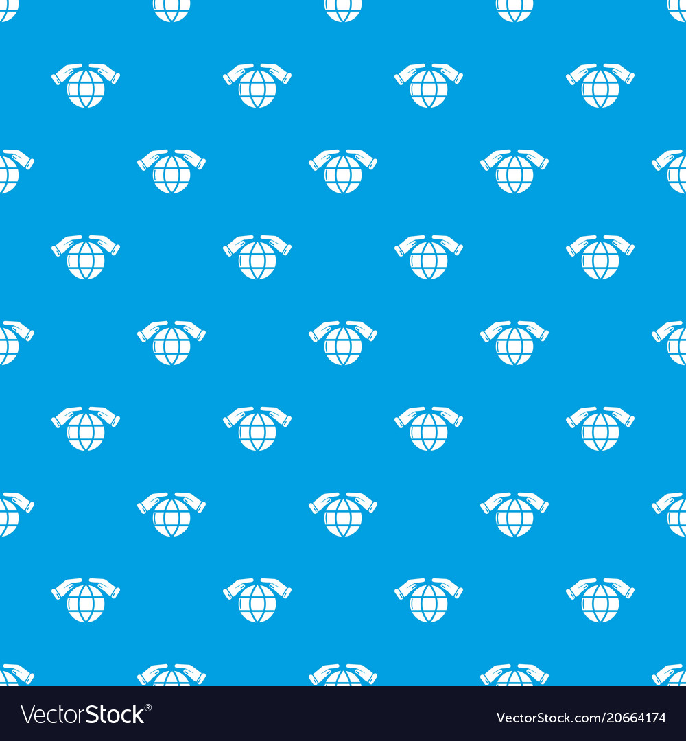 Safe planet pattern seamless blue