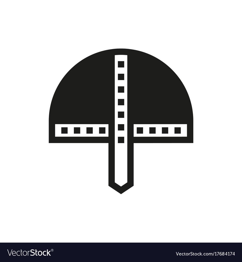 Viking helmet icon on white background vector image