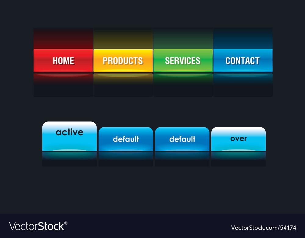 Web tabs vector image