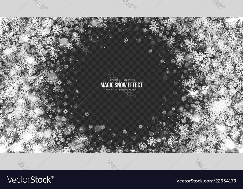 3d snow frame