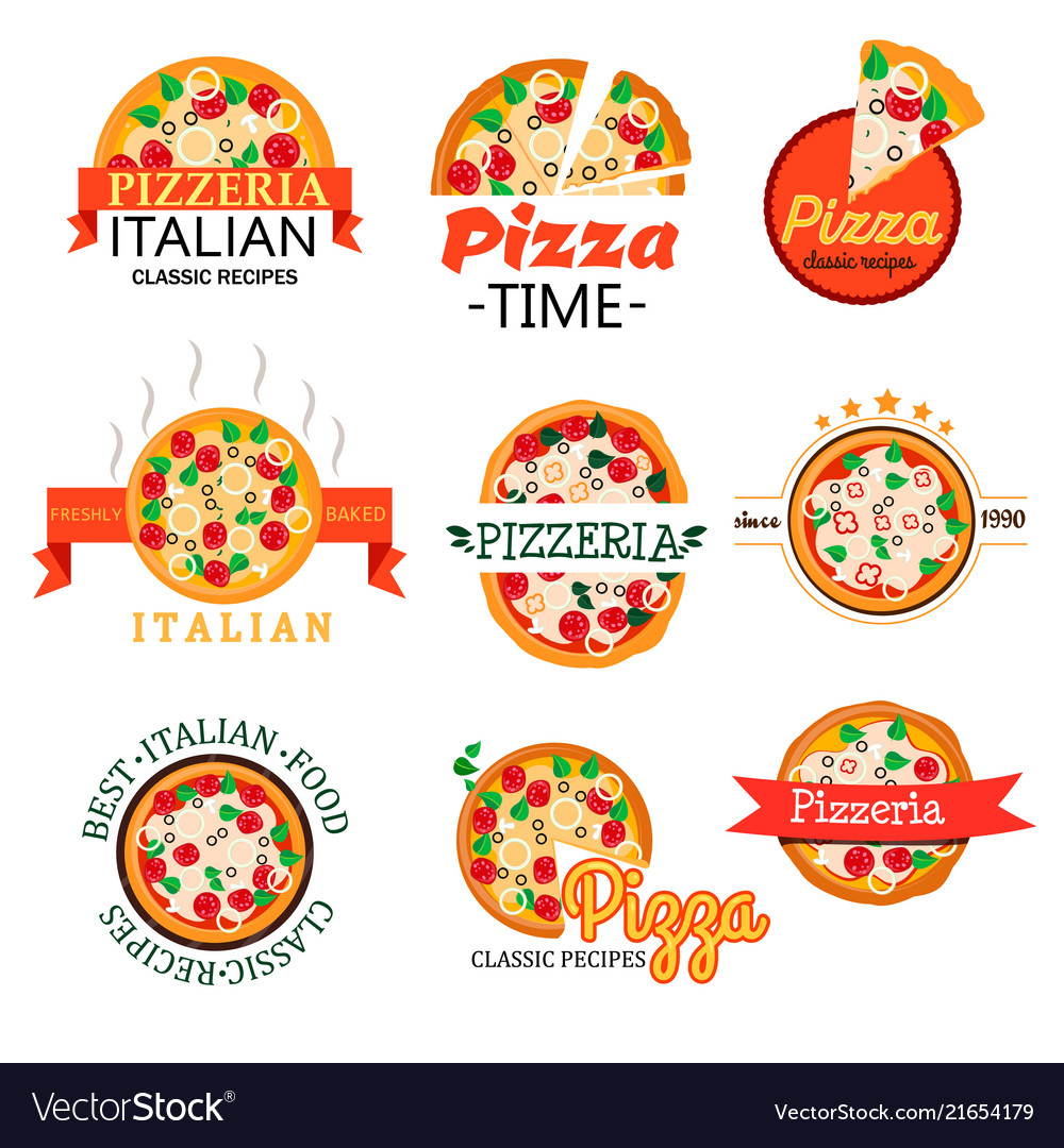 Collection logos for menu of restaurants