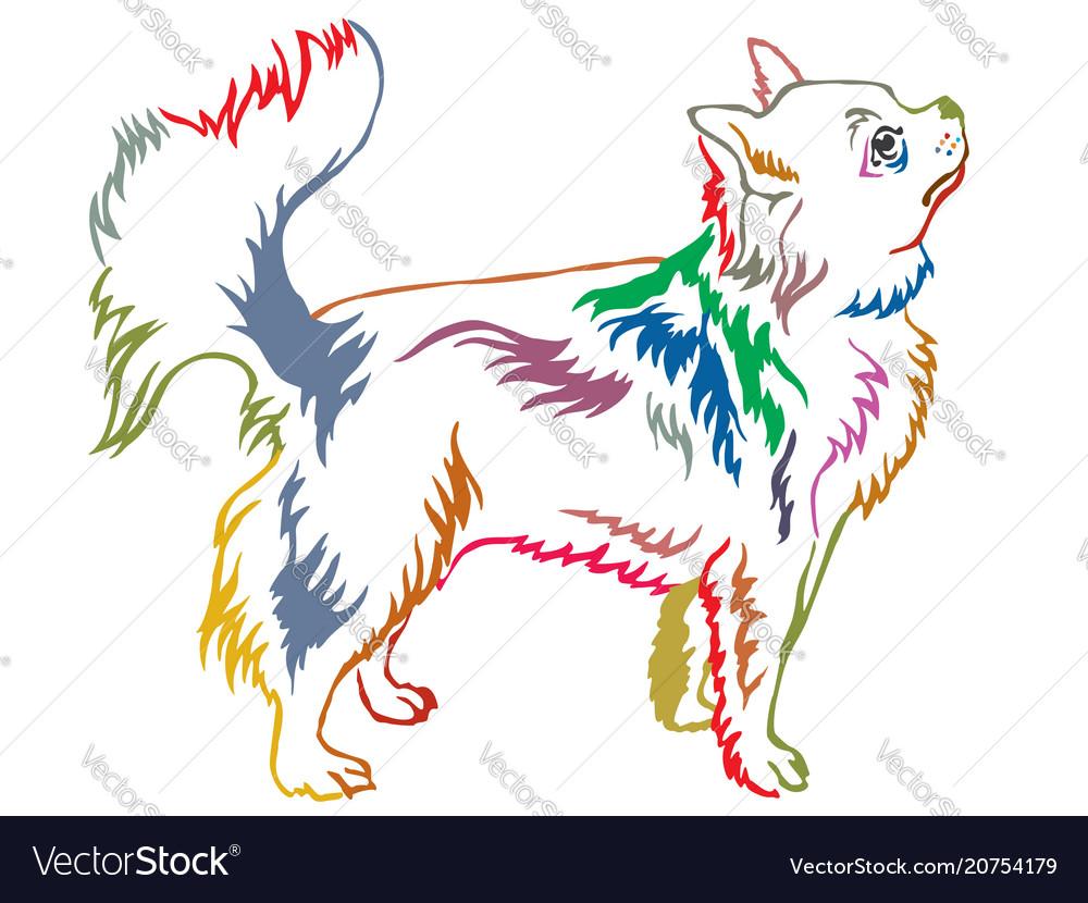 Colorful decorative standing portrait of