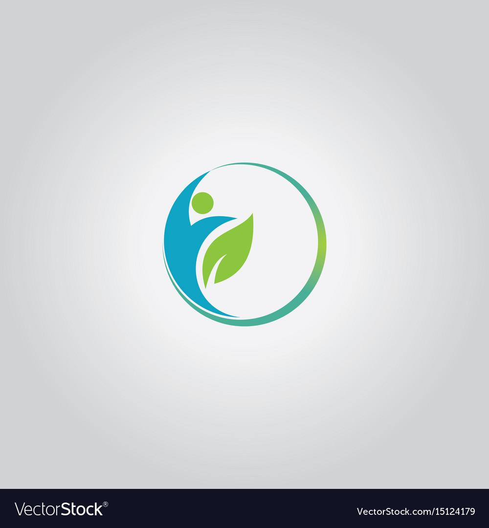 Eco man logo vector image