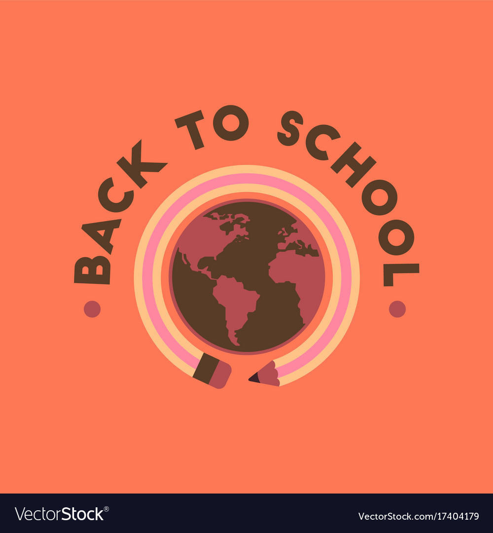 Flat icon on background back to school globe