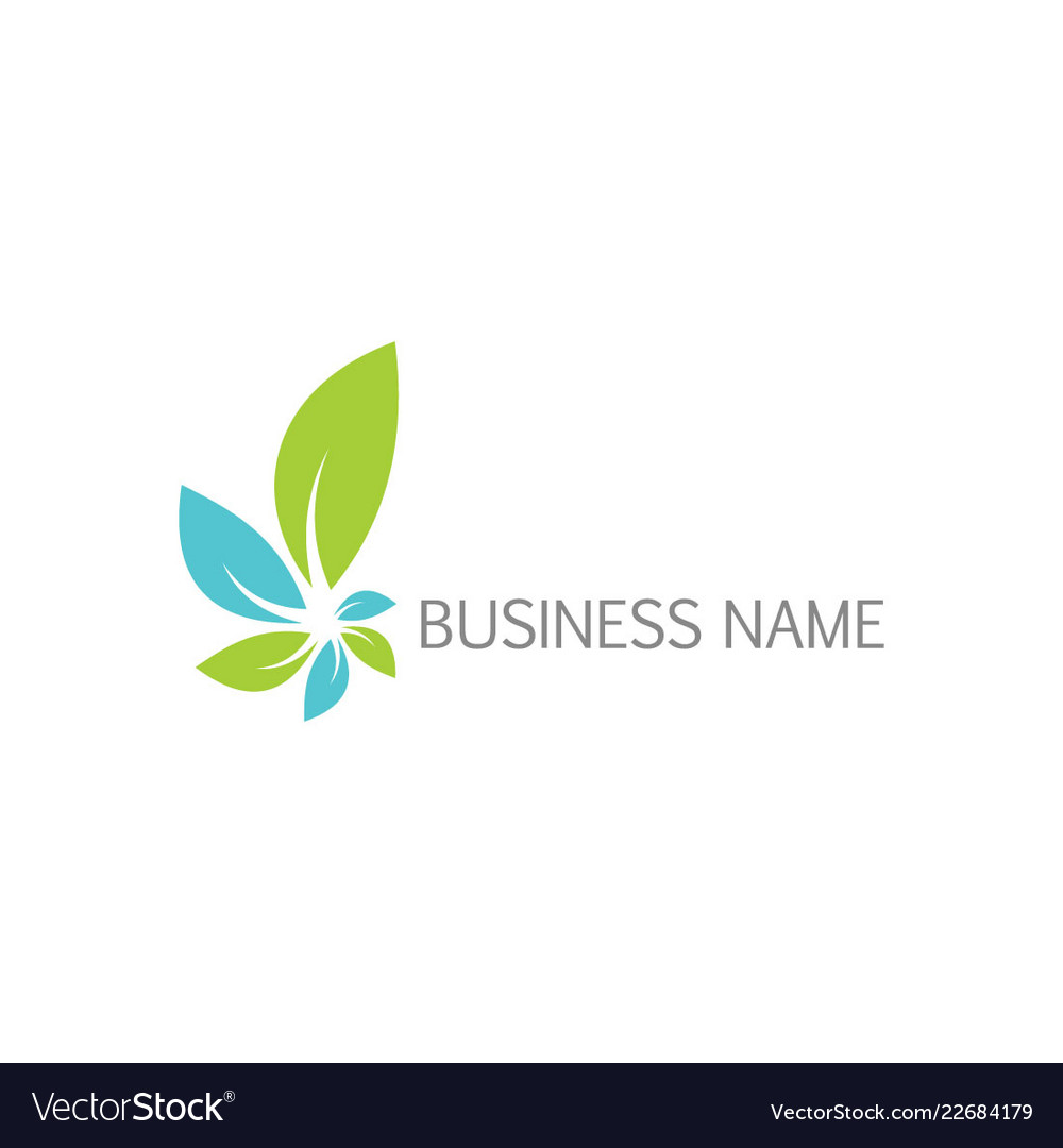 Green leaf organic business logo