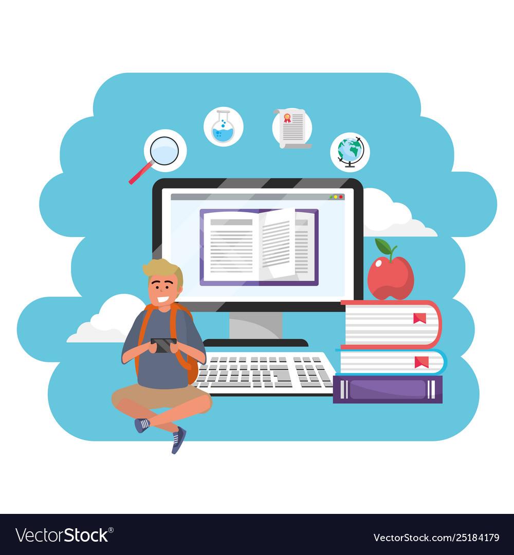 Online education millennial student splash frame
