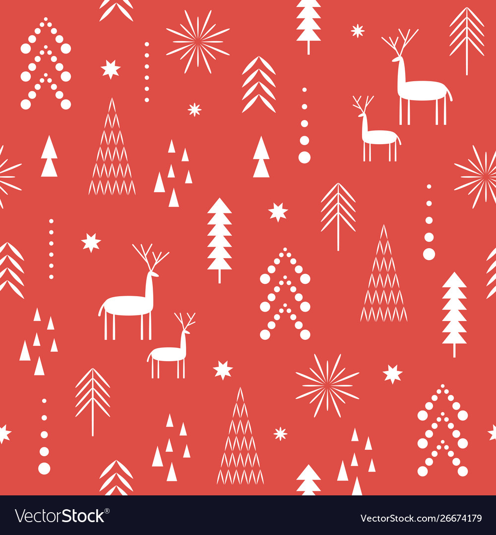 Red seamless christmas pattern