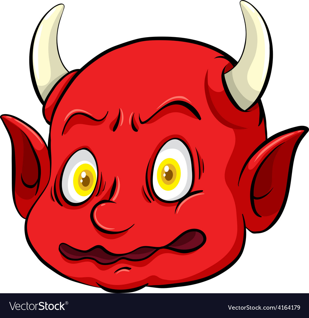 Scary Creature With A Horn Vector Image