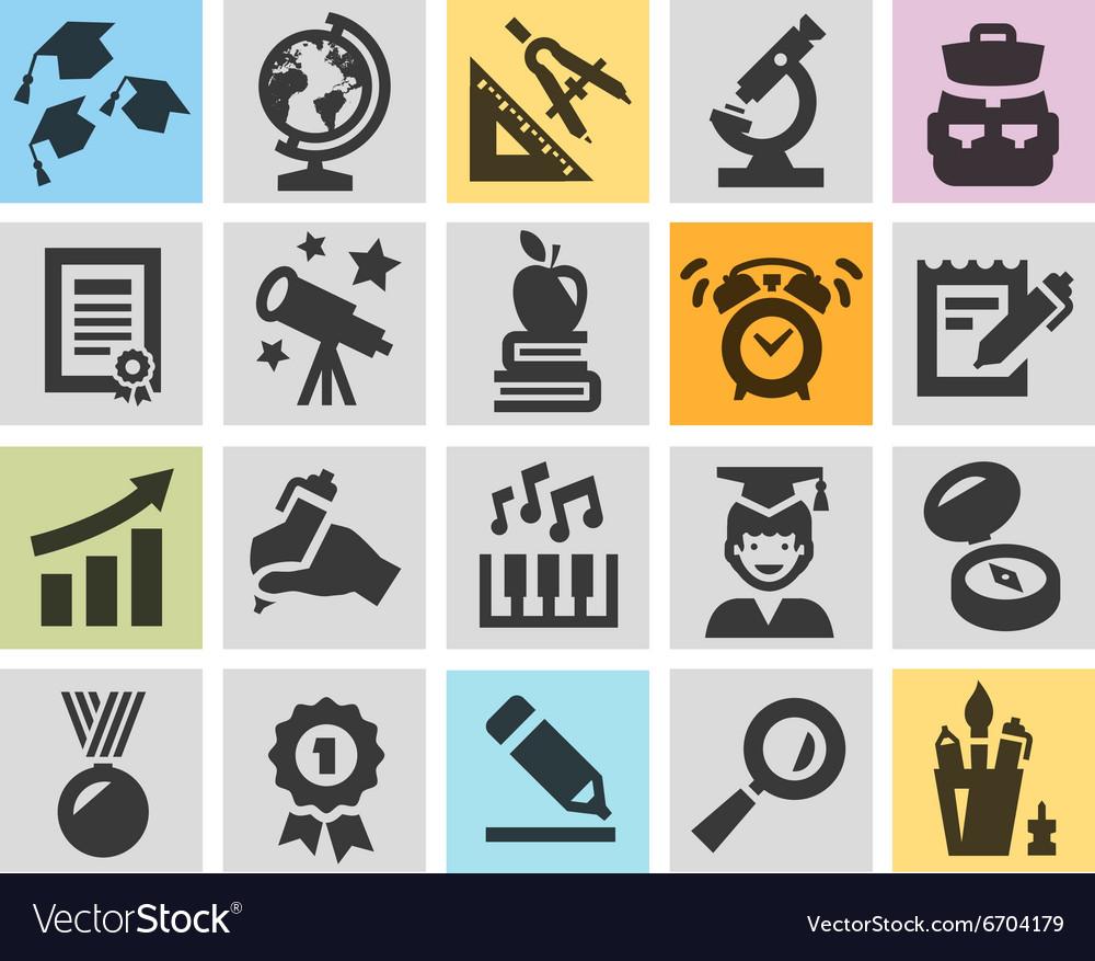 School logo design template education or