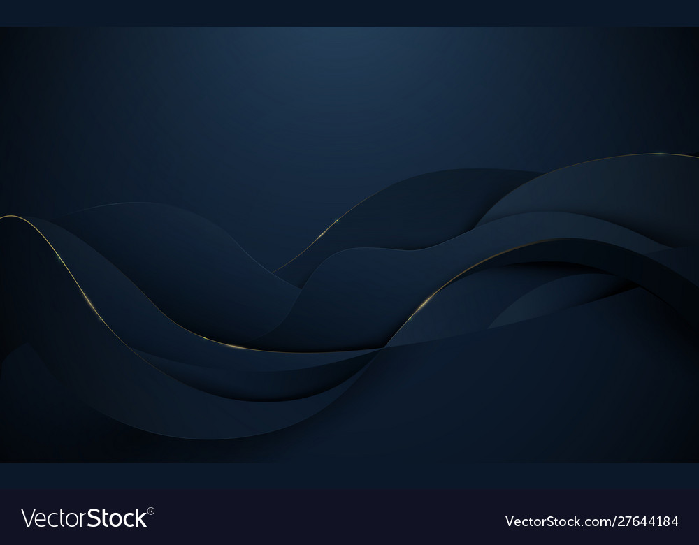 Abstract 3d wavy pattern luxury background