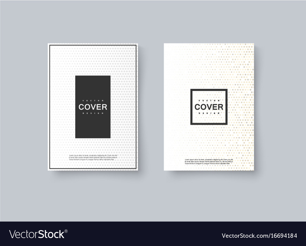 Abstract halftone cover design