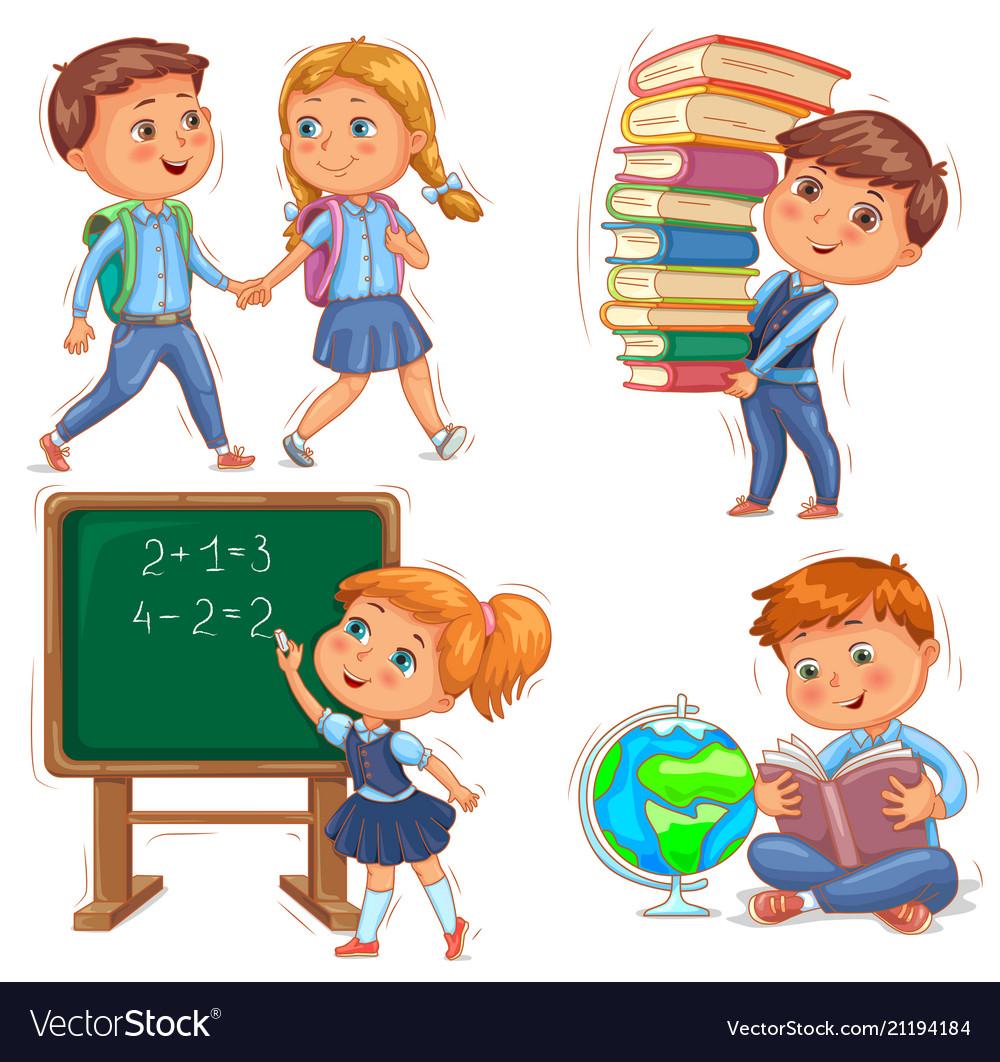 Back to school cute kids set