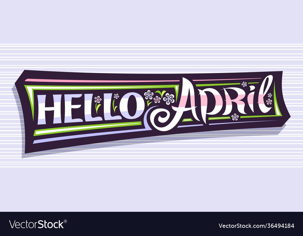 Banner hello april