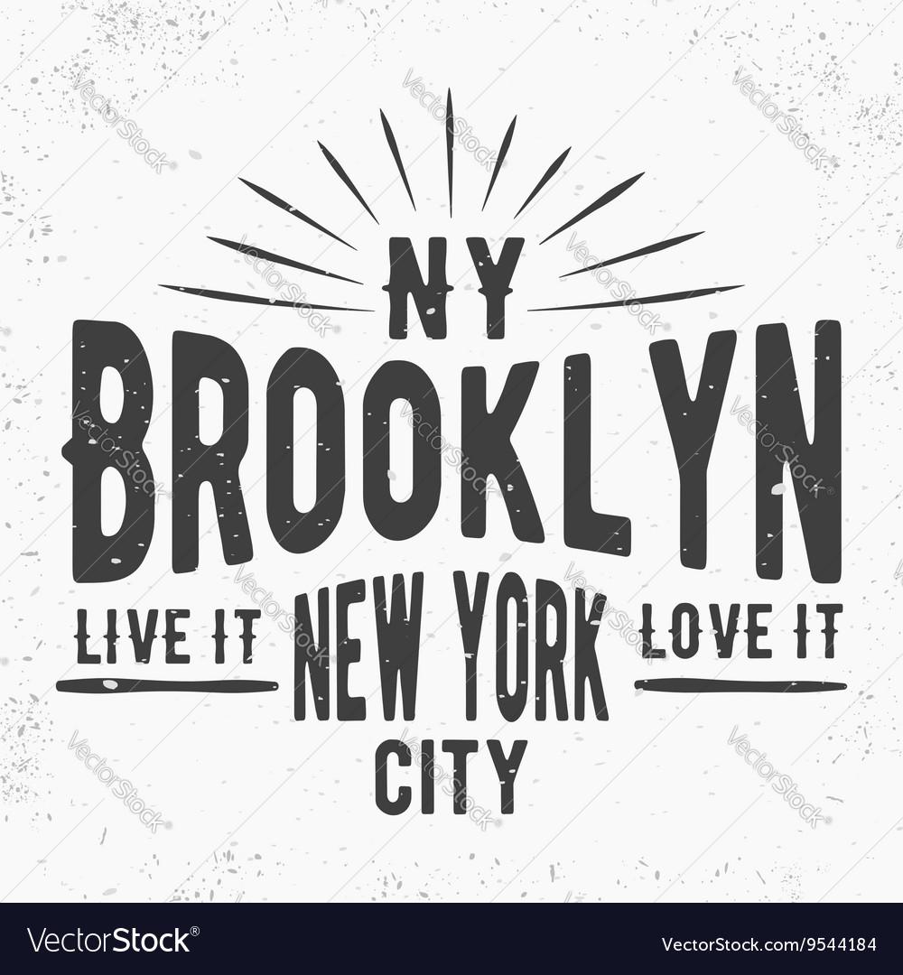 Brooklyn vintage stamp