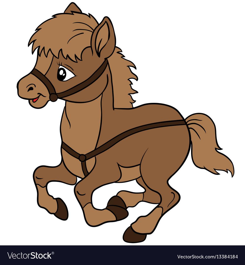 cartoon farm animals cute horse smiles eps 10 vector image clip art horse head heart clip art horse head heart
