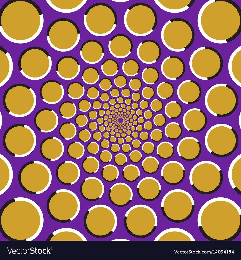Circles are moving circularly from the center
