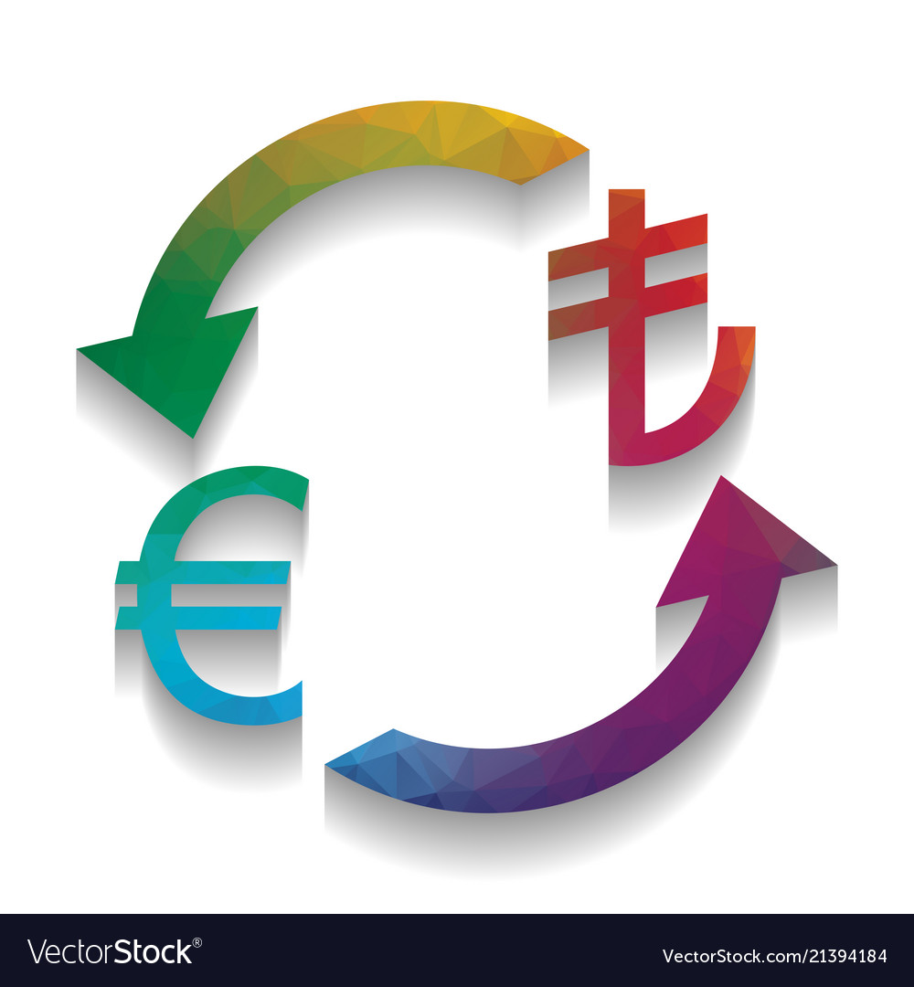 Currency Exchange Sign Euro And Turkey Lira Vector Image